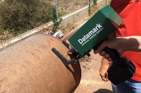 Pistola de marcaje portátil por micropercusión